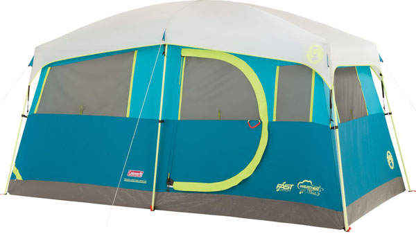 COLEMAN TENAYA LAKE 6P FAST PITCH CABIN WITH CABINETS CAMPING TENT