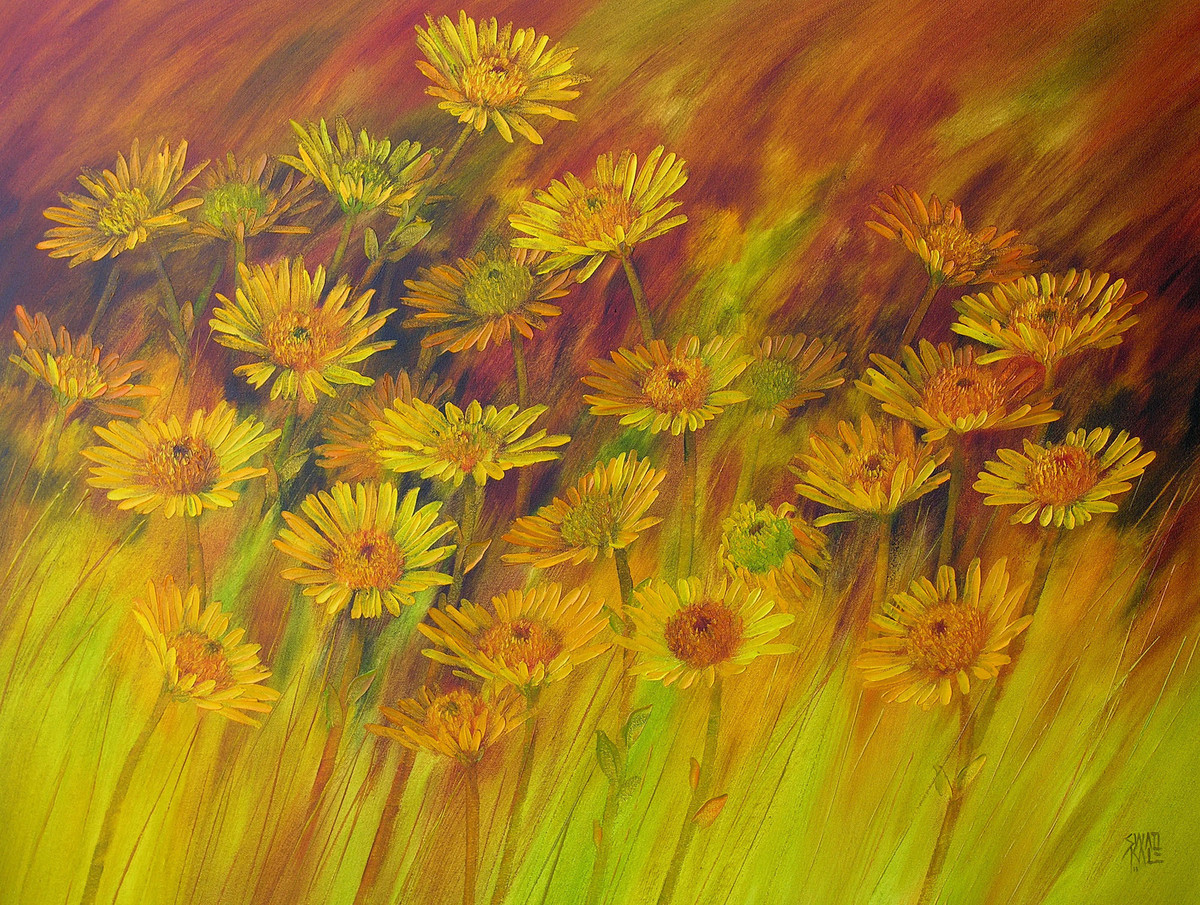 The Bloom - Oil paining by Swati Kale