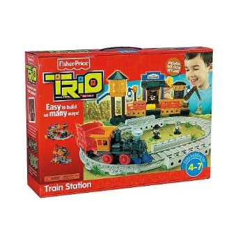 Fisher Price Trio Train Station Building Set RC Toys