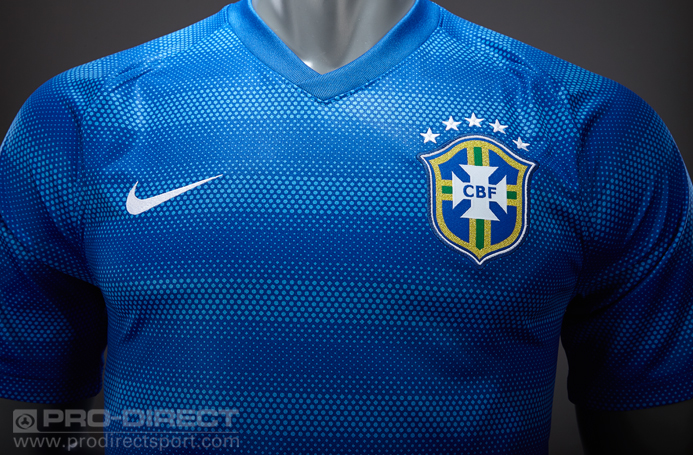 Nike Brazil WorldCup2018 Away Stadium Jersey ShirtBlue&White