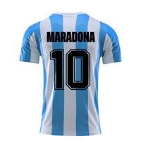 Diego Maradona Argentina Football  Team Fan Jersey