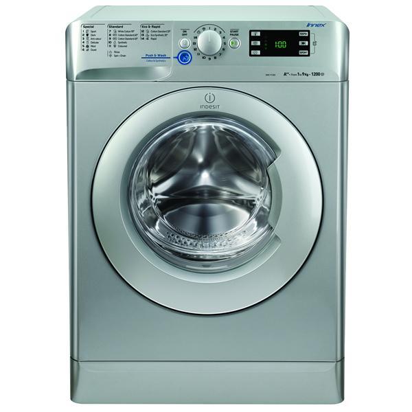 Indesit XWE91282XS Innex 1200 Spin 9kg Washing Machine