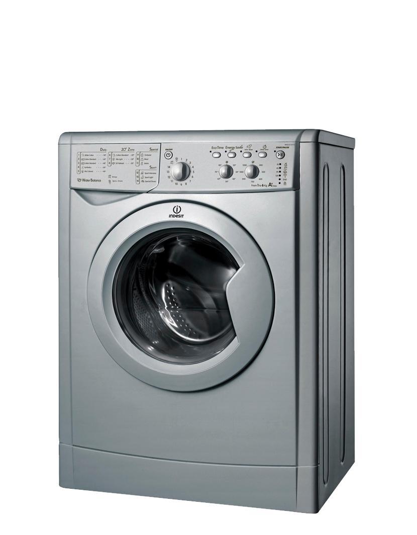 Indesit IWSC61251S 1200 Spin, 6kg, Silver Front loading Washing Machine