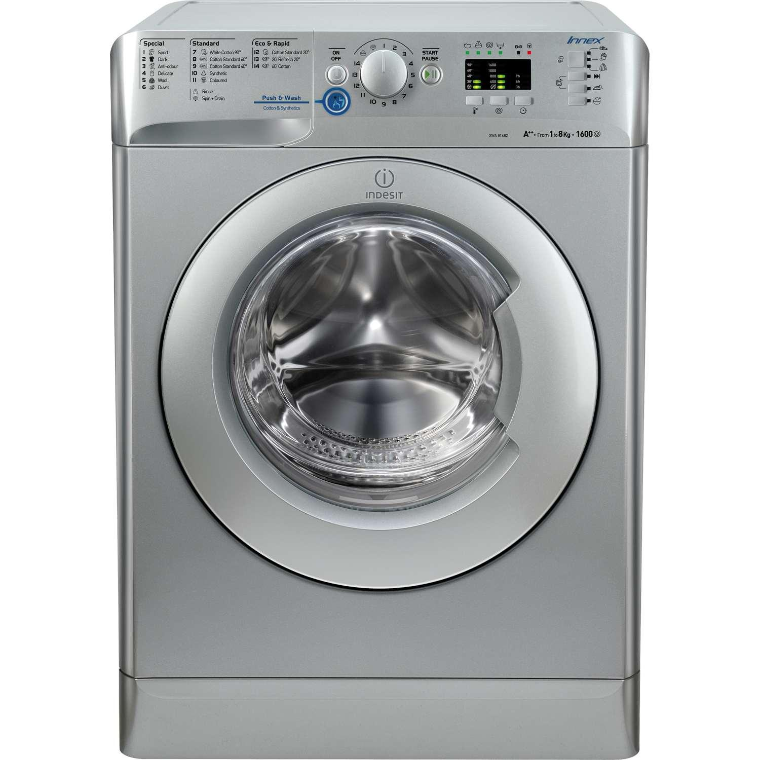 Indesit XWA81682XS Innex 1600 Spin 8kg Washing Machine