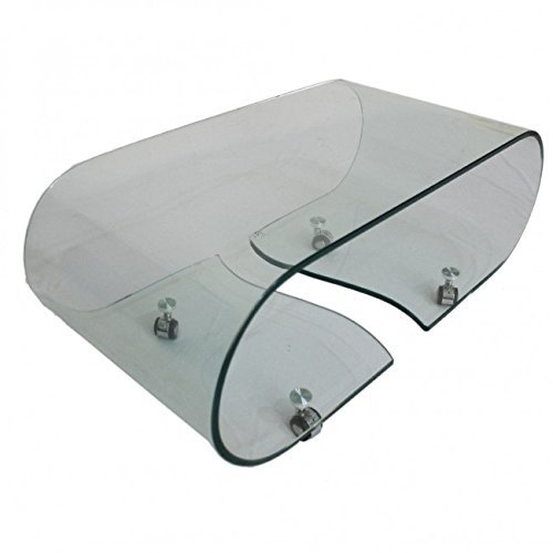 Vogue Bent Glass Coffee Table (Clear Glass) L 89cm