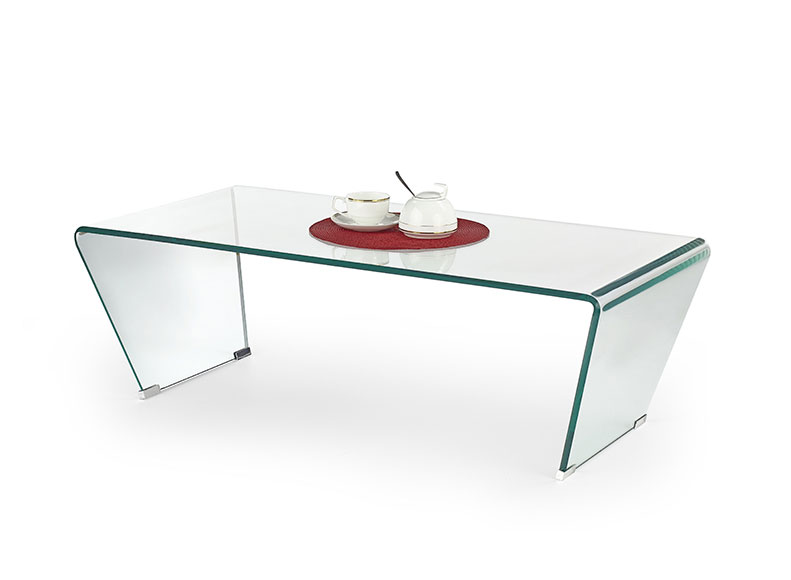 Vogue Angled Glass Coffee Table (Clear Glass) L 120cm