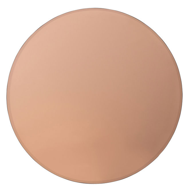 Bronze tinted Round Glass for Dining table 12 mm Thickness