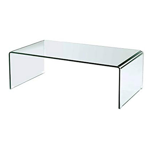 Vogue Bent Glass Coffee Table 19 mm thickness 91x61x46 cm