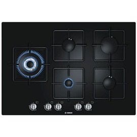 Bosch Black Hard Glass Gas Hob With Integrated Controls(PPS816B1TI)