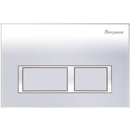 Parryware Linea Plus Push Plates (C8218A1/C8218A2/C82181C Square Chrome/Matte/White)