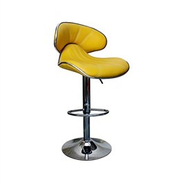VJ Interior Cushioned Bar Stool Yellow 17 x 18 x 42 Inch VJ-385