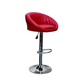 VJ Interior Cushioned Bar Stool Red 19 x 21 x 39 Inch VJ-372