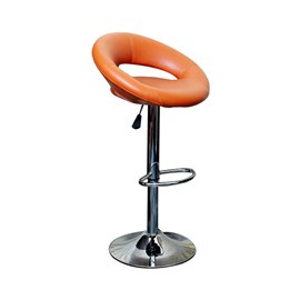VJ Interior Cushioned Bar Stool Orange 19 x 21 x 39 Inch VJ-376