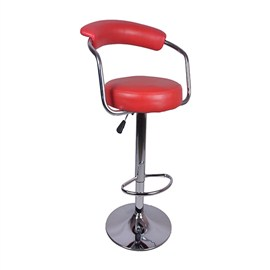VJ Interior Brazos Metal Bar Stool Red 15 x 17 x 9 Inch VJ-011
