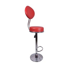 VJ Interior Ovalado Metal Bar Stool Red 15 x 15 x 9 Inch VJ-003