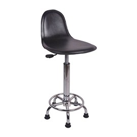 VJ Interior Escaso Bar Stool Black 15 x 15 x 24 to 33 Inch VJ-0046