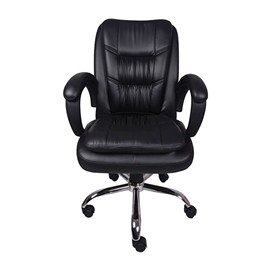 VJ Interior Arrugar Mid Back Chair Black 20 x 21 x 30 Inch VJ-0138
