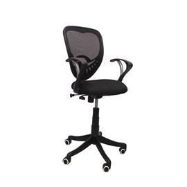 VJ Interior Visitor Chair Black 18 x 17 x 37 Inch VJ-17-VISITOR-LB