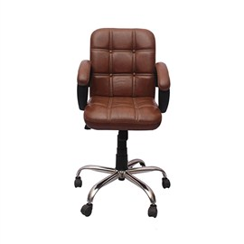 VJ Interior Visitor Chair Brown 19 x 19 x 39 Inch VJ-109-VISITOR-LB