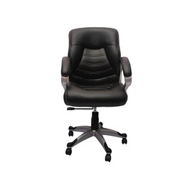 VJ Interior Visitor Chair Black 19 x 19 x 39 Inch VJ-113-EXECUTIVE-MB