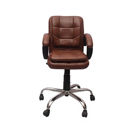 VJ Interior Visitor Chair Brown 19 x 19 x 39 Inch VJ-121-VISITOR-LB