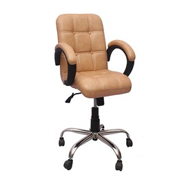 VJ Interior Visitor Chair Light Brown 19 x 19 x 39 Inch VJ-173-VISITOR-LB