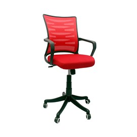 VJ Interior Visitor Chair Red 18 x 17 x 37 Inch VJ-29-VISITOR-LB