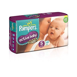 Pampers Active Baby Small Size Diapers (46 Count)