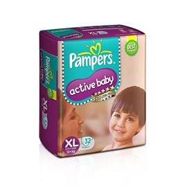 Pampers Active Baby Extra Large Diapers (32Count)