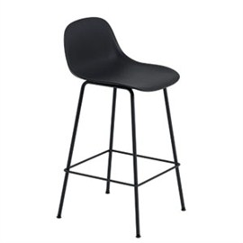 VJ Interior Fiber Bar Stool Black 19 x 21 x 18 to 39 Inch VJ-0249