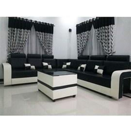 Indograce Corner Set Sofa (White / Black)