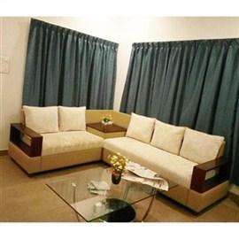 Indograce Corner set sofa (Light Green /White)