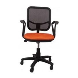 VJ Interior Executive Chair Orange and Black 21 x 23 x 48 Inch VJ-93-VISITOR-LB