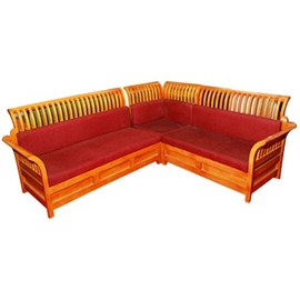 Teak Wood Corner Sofa